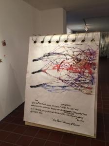 Pieza expuesta en Exit, cartografía de la creatividad.