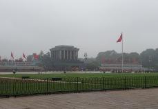 Mausoleo del líder comunista Ho Chi Minh, presidente de Vietnam del Norte.