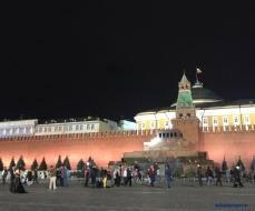 El mausoleo del líder comunista ruso, Vladimir Lenin, ubicado en la Plaza Roja.